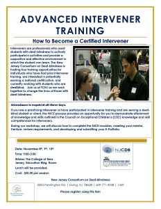 Intervener Training Flyer
